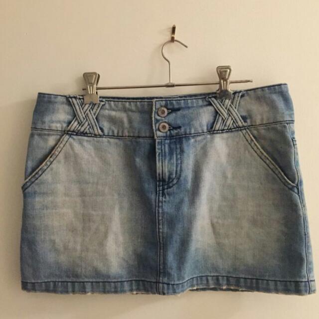 Vintage Demin Mim Skirt