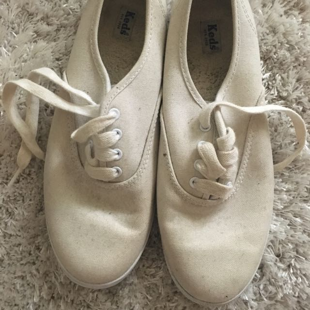 White Keds Plimsole Trainers