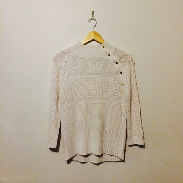White Knit Jumper