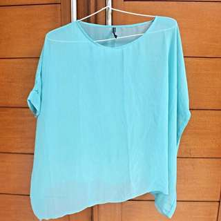 Batwing Blouse Skyblue