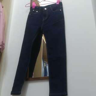 深藍色牛仔褲s號