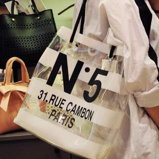 正韓代購N5條紋防水背包包包