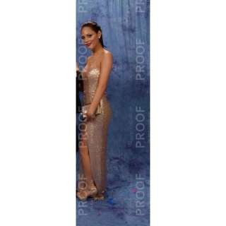 SEQUENCED GOLD FORMAL DRESS
