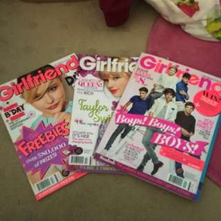 Collection Of Girlfriend Magazines