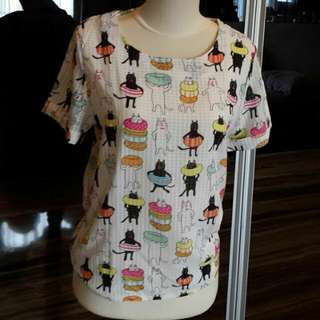 Cat Blouse Sifon