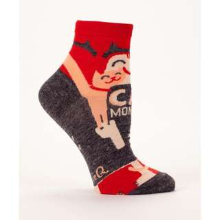 Cat Monster Women's Ankle Socks - Blue Q Funny Quirky Gifts