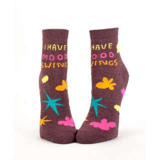 I Have Mood Swings Women's Ankle Socks - Blue Q Funny Cute Gifts