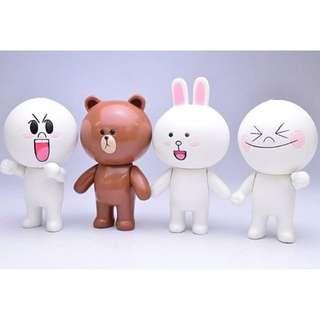 LINE盒玩 / 7cm / 頭手可動 / 兔兔 / Cony