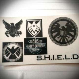 車用貼紙  SHIELD.  HARLEY.  NAVY