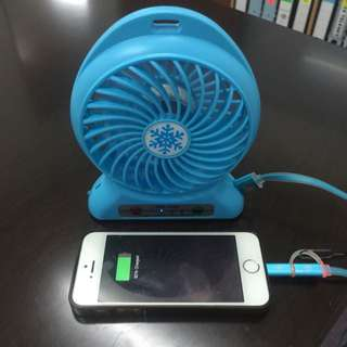 Portable Fan With Powerbank Function