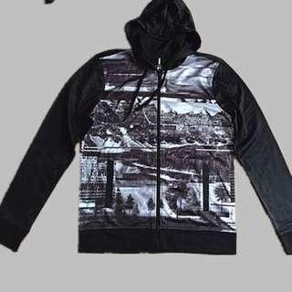 men's zip hoodie jumper size M
