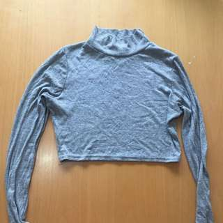 Miss guided Ribbed Grey Crop Top