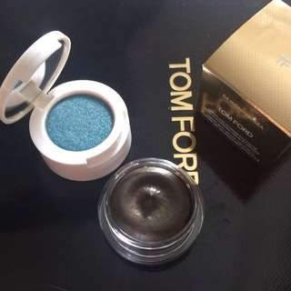 TOM FORD Cream and Powder Eye Color in Midnight Sea eyeshadow Makeup Cosmetics
