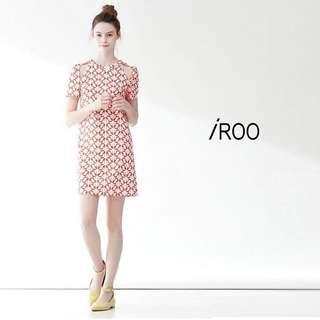 🚚 徵 IROO 肩洞 紅 洋裝 38