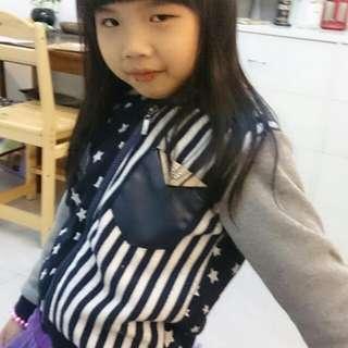 女童外套 灰 深藍 星星 秋裝