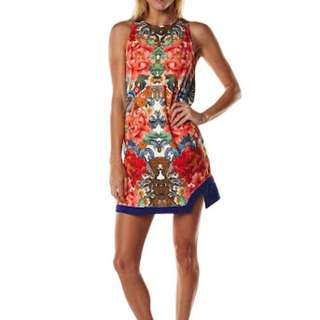 MINKPINK Stratosphere Tunic Dress in Oriental Floral print