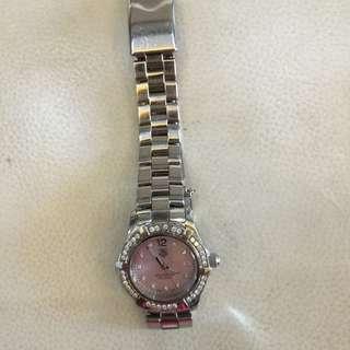 Preloved Authentic Taq Huer Aqua racer Diamond Watch