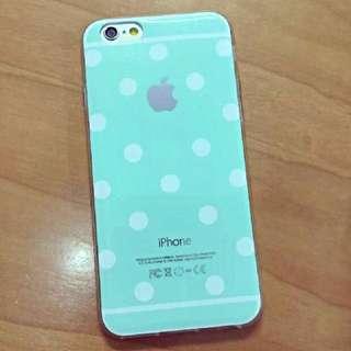 薄荷綠點點手機套 軟殼 iPhone 5/5s/SE