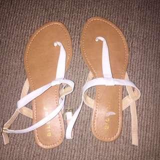 White Billini Sandals