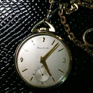 Bulova 17 Jewels Pocket Watch (Just Serviced).