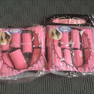 Hair Rollers 2 Packets Total 15 Pieces