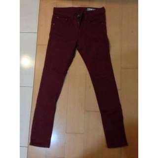 🚚 NT$380含運【二手】PSGB 色褲 (酒紅&靜藍&深卡其色) 三件一起賣