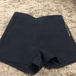 Navy High Waisted Shorys