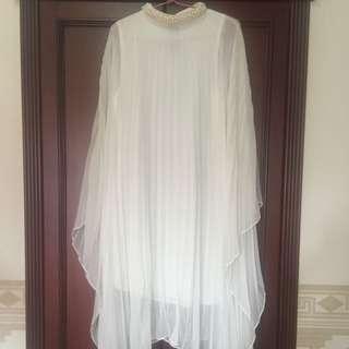Asimetris Broken White Long Dress