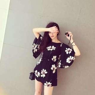 BNWT Floral Bell Sleeve Chiffon Dress
