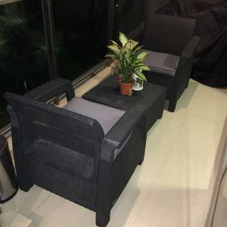 Outdoor Patio Set Black ***reserved***