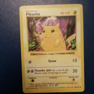 Mint Condition First Edition Pikachu Card