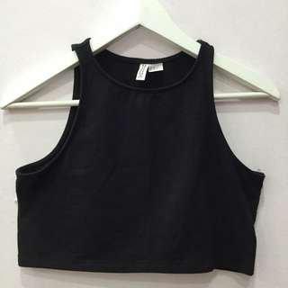 H&M Black Crop Top