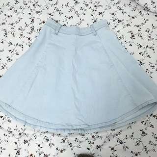 Denim Highwaisted Midi Skirt