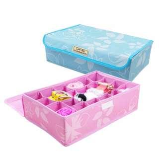 🚚 【買家樂】24格摺疊收納箱(櫻花粉)