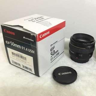 Canon 50mm F1.4 USM Lens (Prime)