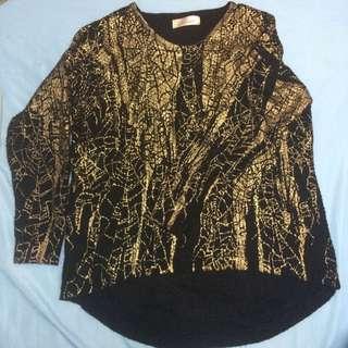 黃金爆裂紋針織衫
