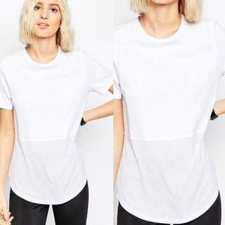 ASOS Ribbed Panel T-shirt