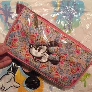 (全新)日本東京迪士尼米妮 鉛筆盒 化妝包