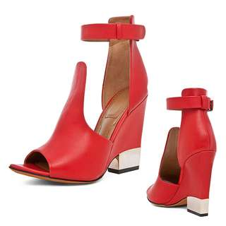 New Givenchy Red Wedge Sandal Heels 綁帶高跟涼鞋