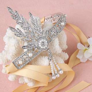 a123325d808 INSTOCK Great Gatsby Flapper Hair Head Accessories and Bracelet