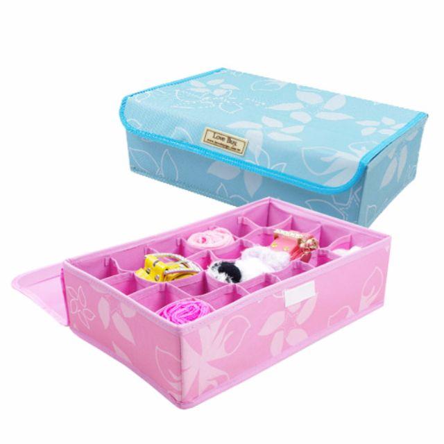 【買家樂】24格摺疊收納箱(櫻花粉)