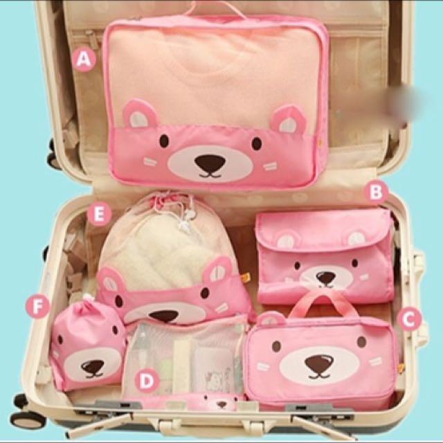 預購✨小熊旅行收納防潑水六件組✨