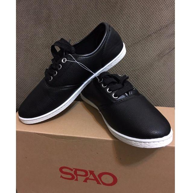 全新-韓國品牌黑色平底休閒鞋 (尺寸23)