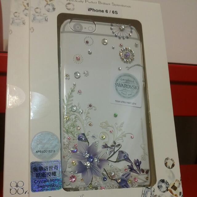 全新apbs 水鑽手機殼 Swarovski 附保固卡 iphone 6/6s/plus