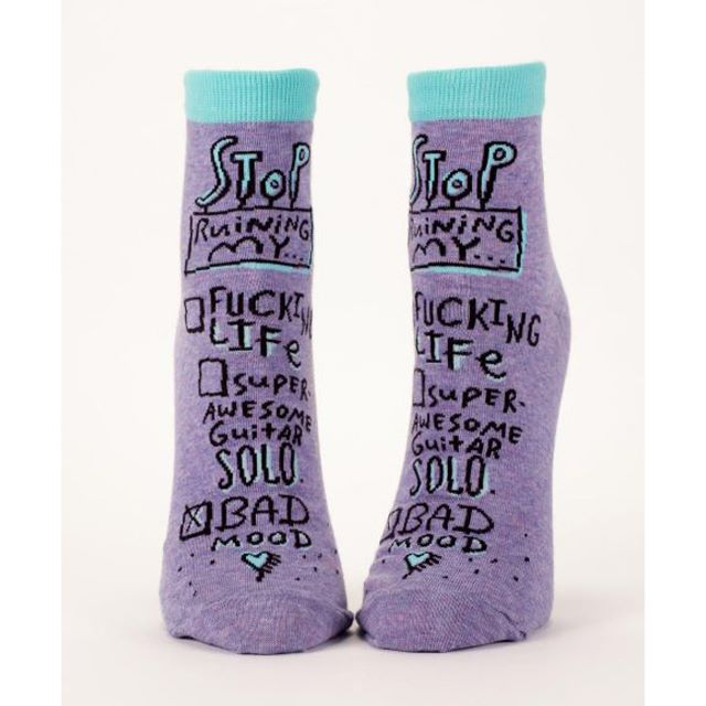 Bad Mood Women's Ankle Socks - Blue Q Funny Quirky Gifts
