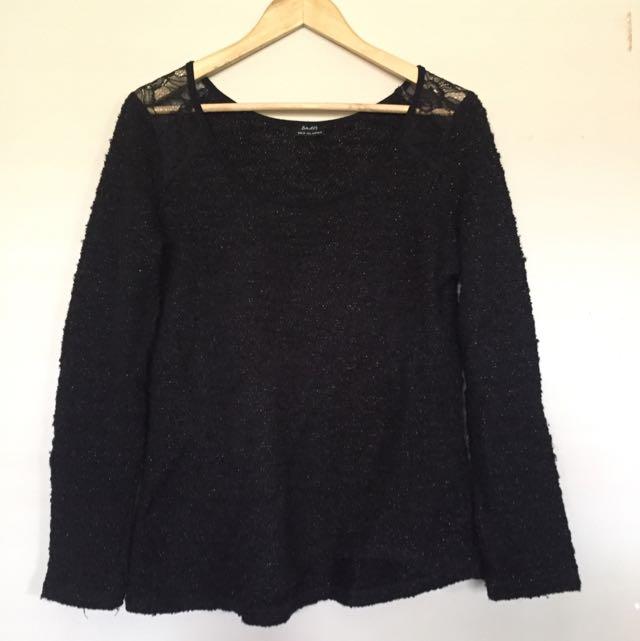 Black Knit Jumper