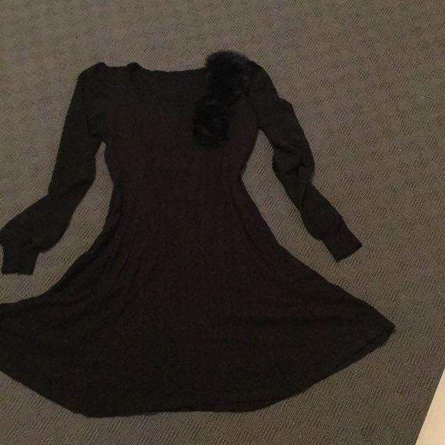 Black Woollen Dress