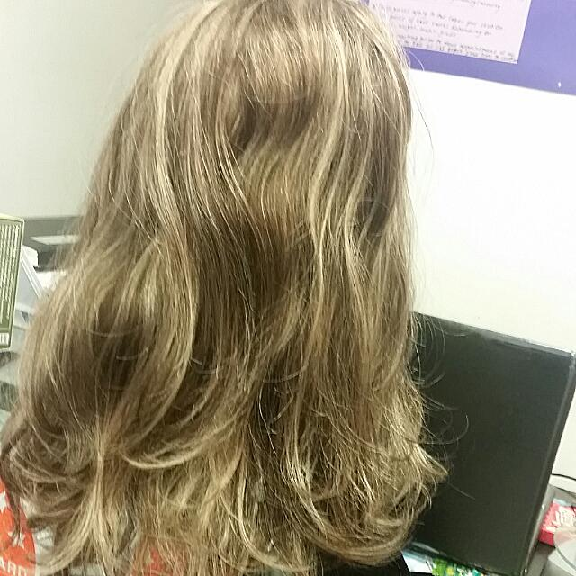 Blonde And Ash Brown Foiled Synthetic One Piece Clip In