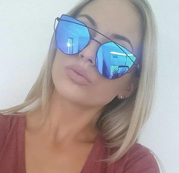 Blue Black Sunglasses