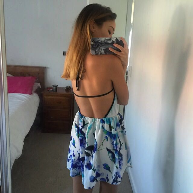 Boutique Backless Dress. Size 6
